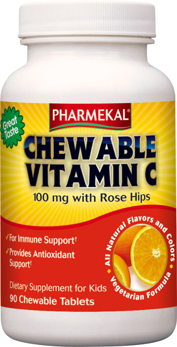 Chewable Vitamin C 100 mg with Rose Hips
