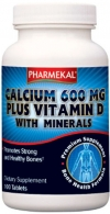 Calciu 600 MG, Vitamina D3 + Minerale
